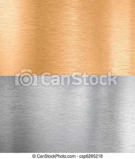 texturas, cobre, metal, prata - csp6265218