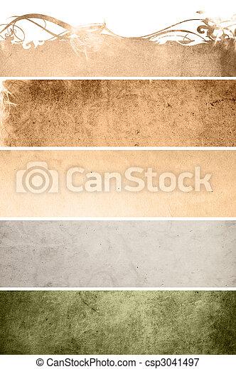 texturas, floral, estilo, fundos, quadro - csp3041497