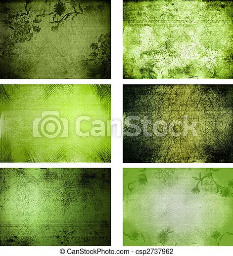 texturas, grunge, colección, plano de fondo - csp2737962