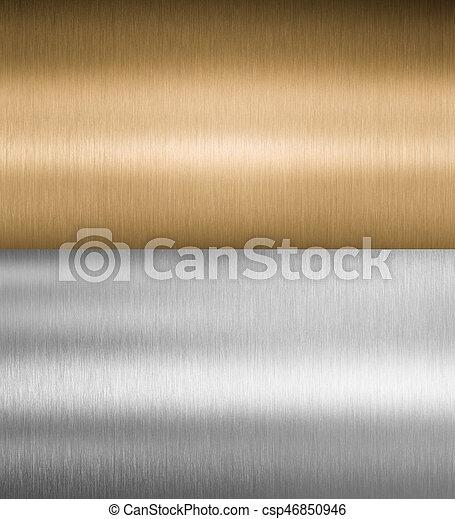 texturas, metal, prata, bronze - csp46850946