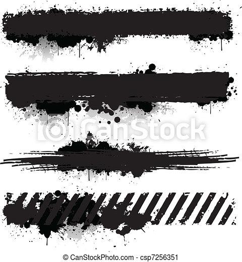 texturas, pintura, grunge - csp7256351