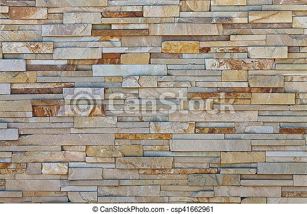 texture beige stone tiles - csp41662961