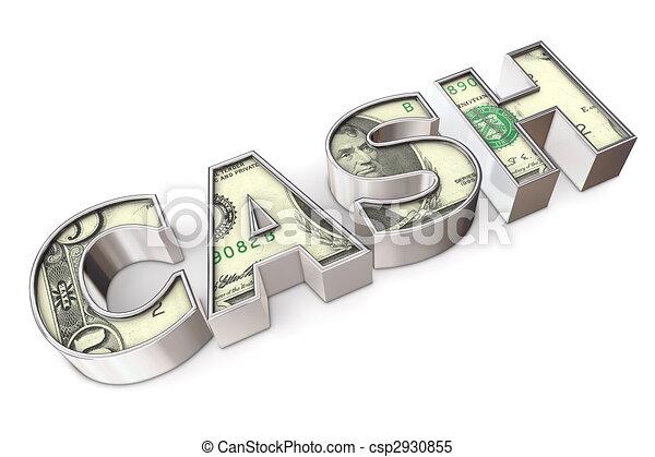 Texture Cash Dollar - csp2930855