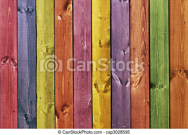Texture - colored wooden boards - csp3028595