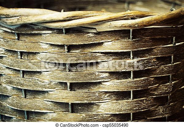 texture detail of a wicker basket - csp55035490