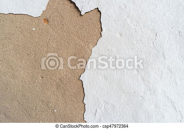 Texture gray and white plastered wall for background - csp47972364