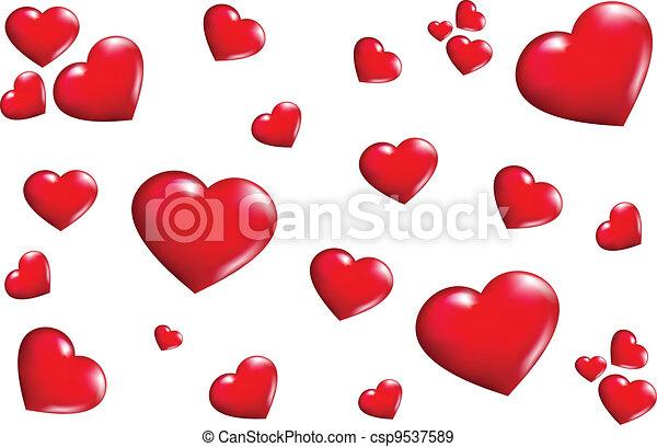 texture Hearts - csp9537589