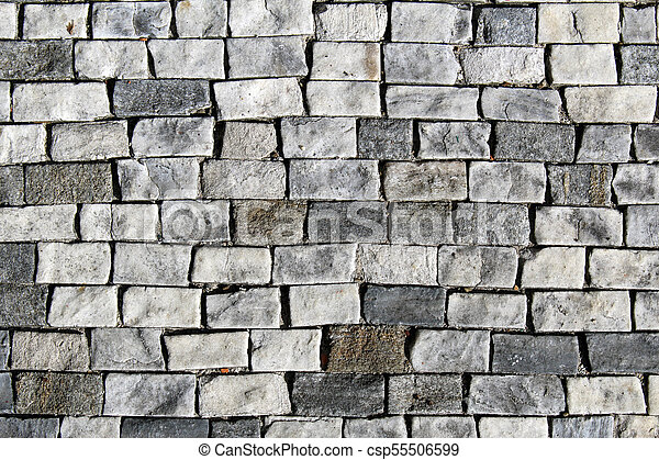Texture Made By Rectangular Rock Tiles Pavement Canstock