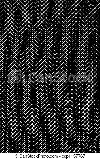texture of a black metal grill - csp1157767