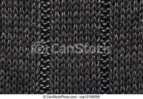 texture of a knitted material from wool for use as background - csp12166099