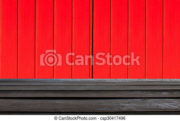 Texture of a red and black wooden - csp30417496