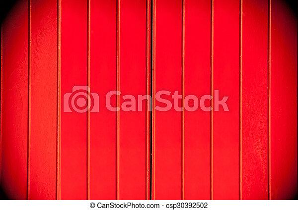 Texture of a red wooden dark border - csp30392502