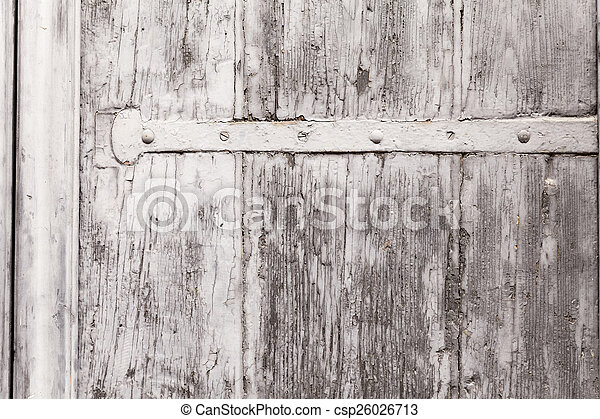 Texture Of A Weathered Wooden Window Shutter - csp26026713