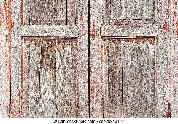 Texture of a wooden window - csp29943137