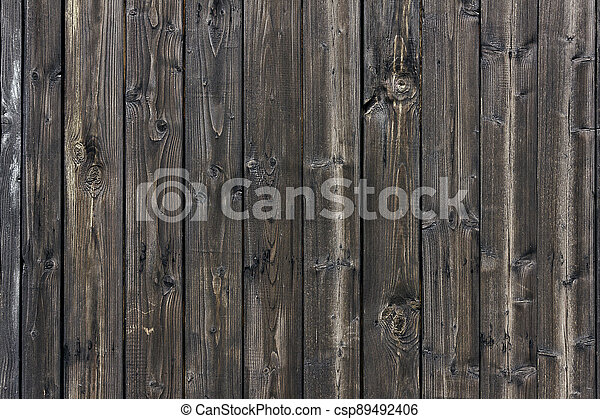 texture of an old wooden fence - csp89492406