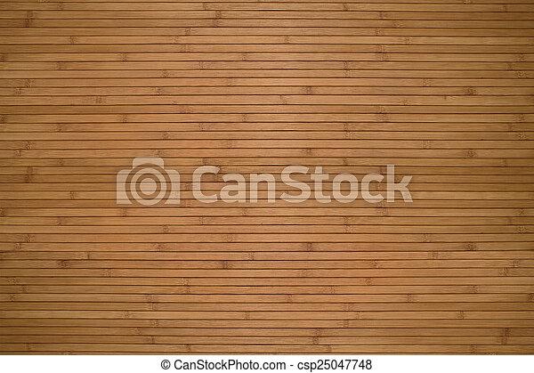Texture of beige bamboo wooden planks - csp25047748