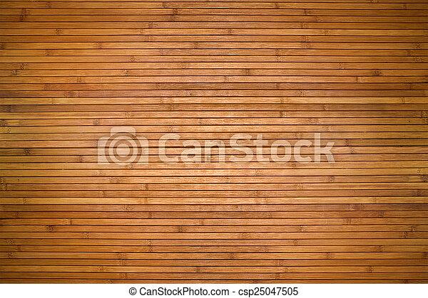Texture of beige bamboo wooden planks - csp25047505