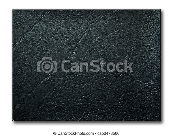 texture of black leatherette sample - csp8473506