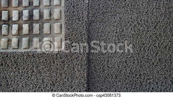 texture of carpet car on Drying rack. - csp43081373