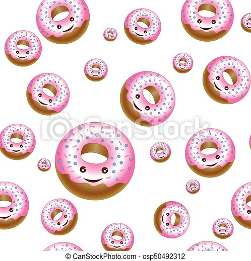Texture of different size donuts - csp50492312