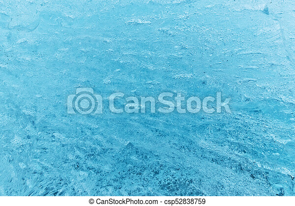 Texture of glacier ice in close-up detail - csp52838759