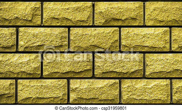 Texture of gold decorative tiles in form of brick stock photography ...