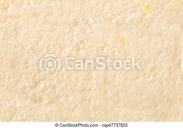 Texture of ice cream vanilla top - csp47737823