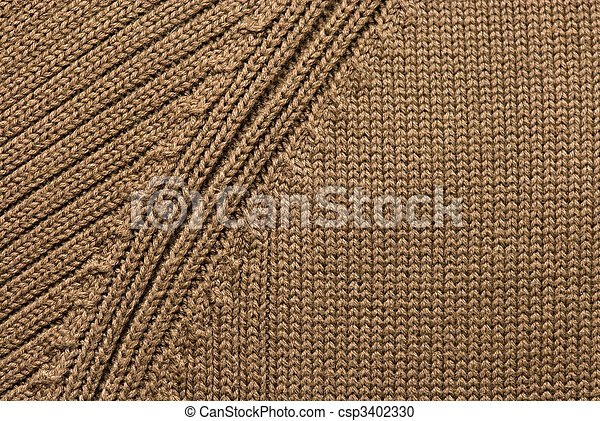 Texture of knitting wool - csp3402330