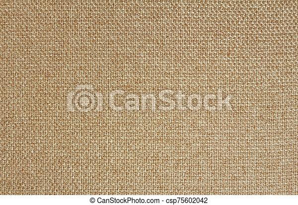Texture of light beige fabric Matting. Close up - csp75602042