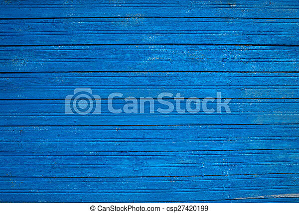 Texture of old blue fence - csp27420199