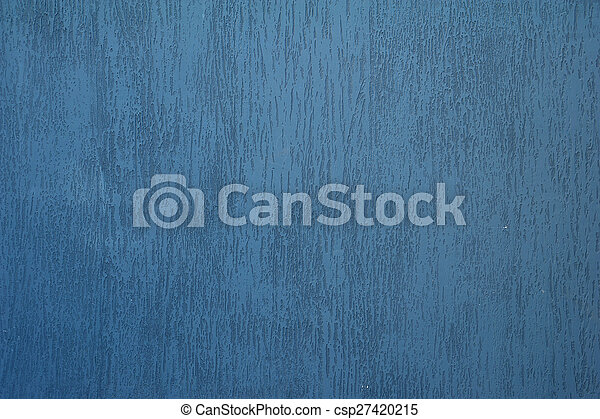 Texture of old wall covered with blue stucco - csp27420215