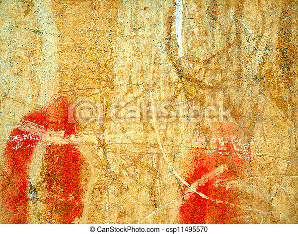 texture of old wall with cracks. - csp11495570