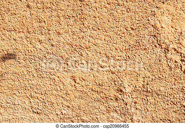 Texture of old wall with orange stucco - csp20966455