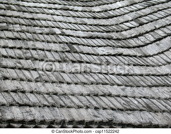 Texture of old wooden roof - csp11522242