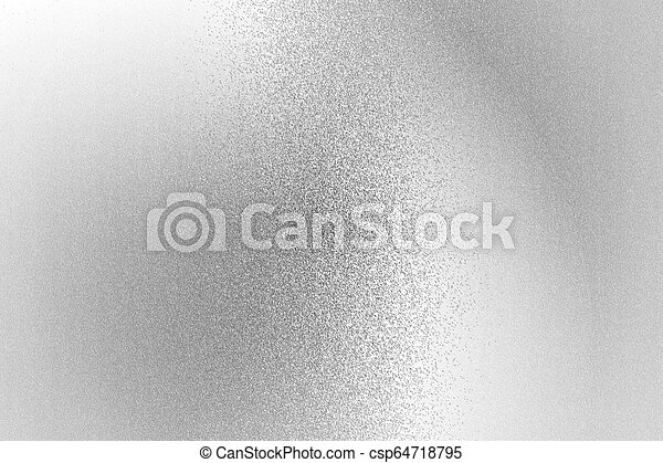 Texture of reflection on rough white metallic wall, abstract background - csp64718795