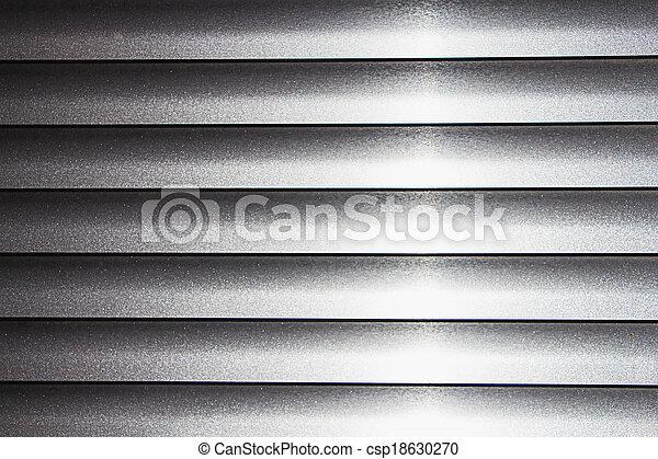 Texture of silver jalousie - csp18630270