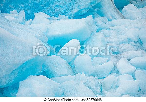 Texture of Svartisen Glacier, Norway, nature background - csp59579646