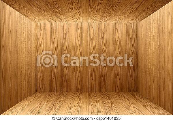 Texture Of Teak Wood Floor And Wallpaper Background