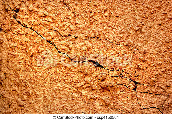texture of the old stucco wall with cracks - csp4150584