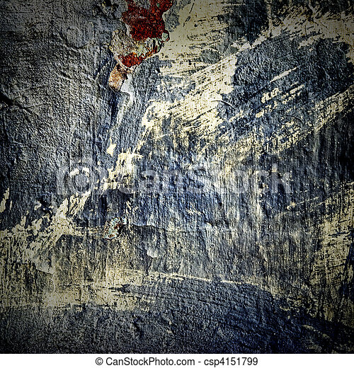 texture of the old stucco wall with cracks - csp4151799