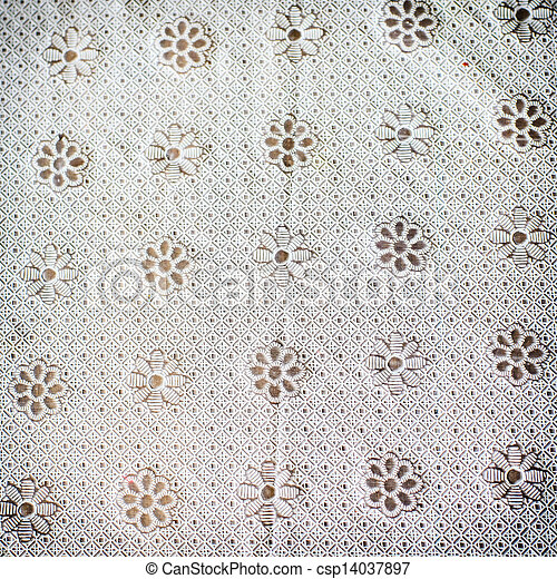 Texture of white table cover abstract background - csp14037897