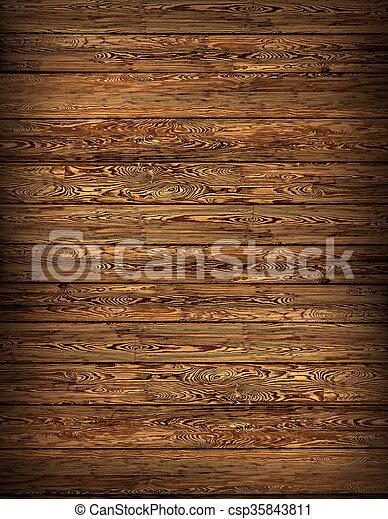 texture of wooden boards - csp35843811
