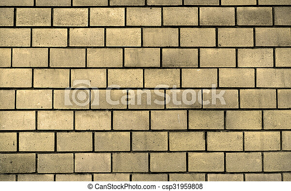 Texture of yellow decorative tiles in form of brick stock ...