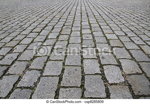 texture pierre, route, rue, trottoir - csp8285809