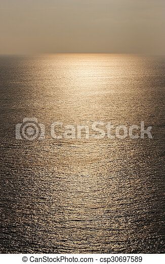 texture water of the sea with sunlight - csp30697589