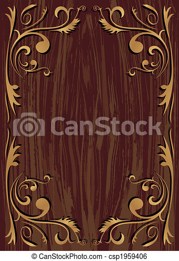 Stock Illustration of Texture Wood Frame Wood texture background