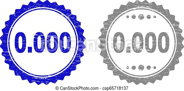 Textured 0.000 Scratched Stamp Seals with Ribbon - csp65718137