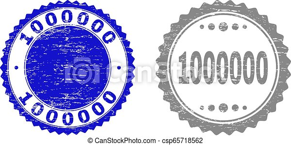Textured 1000000 Scratched Stamp Seals with Ribbon - csp65718562