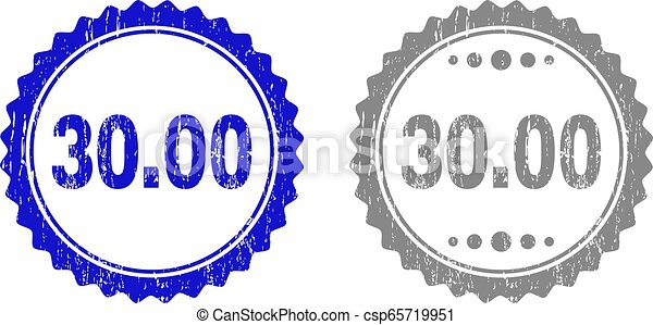 Textured 30.00 Scratched Stamp Seals with Ribbon - csp65719951