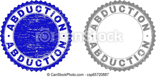 Textured ABDUCTION Scratched Stamp Seals with Ribbon - csp65720887